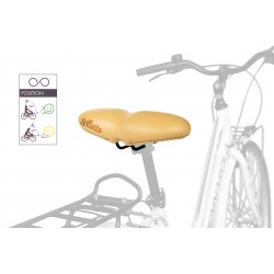 FESTIVAL - sella bici ammortizzata vera pelle
